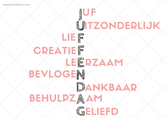 Juffendag kaartje I Creatief Lifestyle blog Badschuim